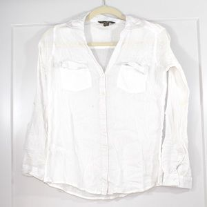 Tommy Bahama white button down top